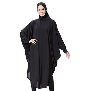 Bmeigo Damen Muslim Head Scarfs Hijab Veils Head Cover Ramadan Khimar