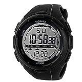 Digital Sport Uhren für Herren, Skxinn Männer 30M Wasserdicht multifunktionale Mode Sport LED Armbanduhren Ausverkauf(Schwarz-2,One Size)