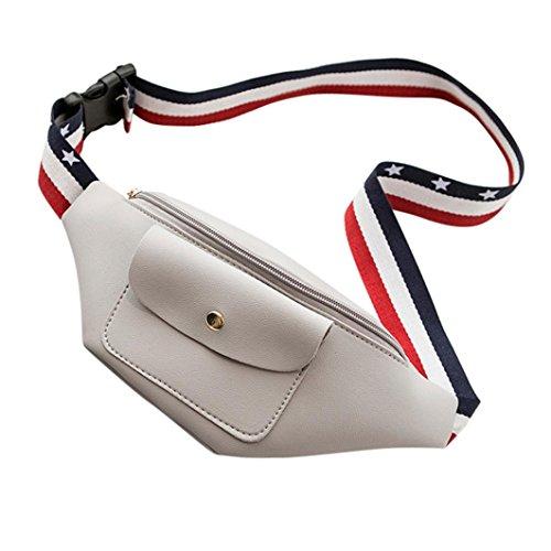 VJGOAL Damen Bauchtasche, Damen Männer Fashion Party Shopping Urlaub Einfarbig Reißverschluss Hüfttasche Telefon Brust Kleine Tasche Geschenke (Grau)