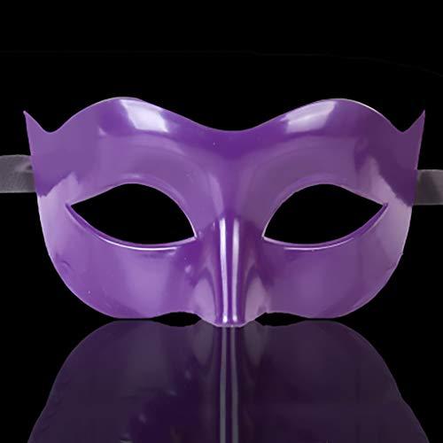 Maske Maske Make-up Ballmaske halbes Gesicht cos Erwachsene halbe Gesichtstanzmaske (mehrere Farben erhältlich) Gesichtsmaske (Farbe : Monolithic - Purple)