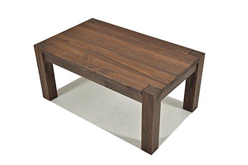 Naturholzmöbel Seidel Couchtisch Wohnzimmertisch Beistelltisch,Rio Bonito, 100x60cm Höhe 50cm, Echtholz Pinie Massivholz, geölt und gewachst, Farbton Cognac braun, optional: Zwischenboden erhältlich -