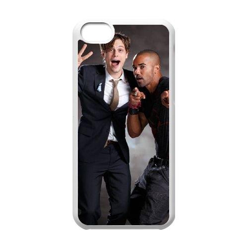Criminal Minds coque iPhone 5C Housse Blanc téléphone portable couverture de cas coque EBDXJKNBO16550