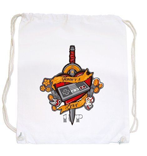 Certified Freak Game Love Gymsack White - Lustige Video-spiel, T-shirts