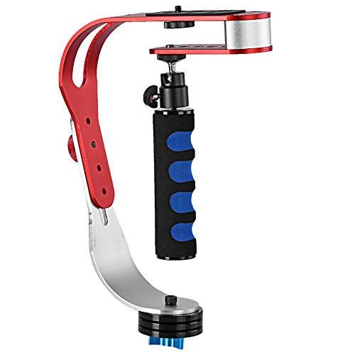 Neewer® Professionelle Handheld Video Kamera Stabilisator Stabilizer zur Beständigkeit, Perfekt für Smart Handys, GoPro1/2/3/3+/4, Canon, Nikon und andere DSLR Kamera bis 3.3lbs/1.5kg mit reibungslos Pro Steady Glide-Cam - Rot + Blau (Go Cam Pro Steady)