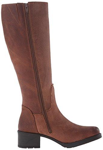 Rockport Rola Tall Boot Damen Rund Leder Mode-Knie hoch Stiefel Black Tumble