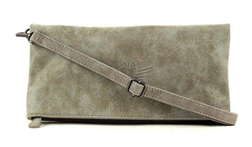 Fritzi aus Preußen Ronja Wing Vintage Clutch pochette donna Tasche 29 cm Pebble (Beige)