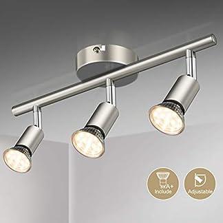Faretti LED da soffitto orientabili I plafoniera moderna da soffitto per l'illuminazione da interno I luce calda I corpo metallo, color nickel opaco I include lampadine LED GU10 da 3.5W, 380Lm,230V