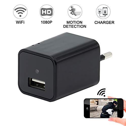 Telecamera Spia, Mini Camera Wifi LXMIMI Telecamera Nascosta HD Spy Hidden Camera Wi-Fi Visualizzazione Remota con Rilevamento del Movimento per la Sorveglianza Domestica