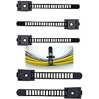 50PIECES regolabile Fascette autoadesiva Wire clip cavo supporto organizer con le viti di montaggio per auto, multi cavi, festive decorazioni in nero