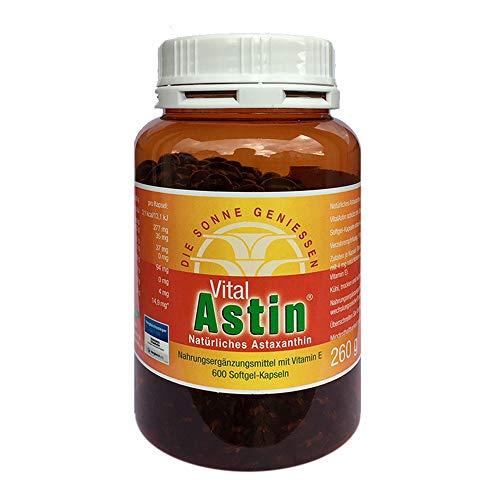 Astaxanthin - versandkostenfrei - VitalAstin 600 Kapseln - Das Original Ivarssons VitalAstin mit 4 mg natürlichem Astaxanthin - Antioxidans