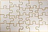 Kopierladen Holzpuzzle selbt gestalten und bemalen, leeres Puzzle aus Holz, Blanko-Puzzle, 20 Teile, ca. 290 x 195 mm, unbehandeltes Schichtholz