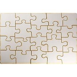 Kopierladen Puzzle di Legno Personalizzabile da dipingere, Puzzle Vuoto di Legno, 20 Pezzi, ca. 290 x 195 mm, Legno Compensato Non trattato