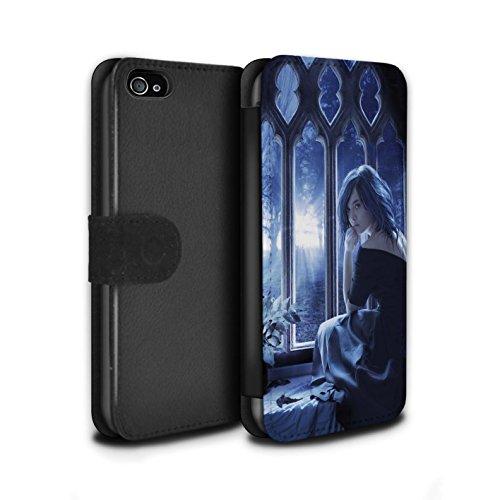 Officiel Elena Dudina Coque/Etui/Housse Cuir PU Case/Cover pour Apple iPhone 4/4S / Luz Sombra Design / Art Amour Collection Feuilles séchées