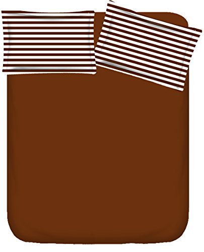 Vintana Presents 100% Cotton Brown 1 Bedsheet with 2 Pillow Cover