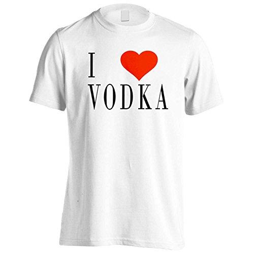 Amo VODKA novità divertente Nuovo Uomo T-shirt g94m White
