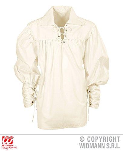 (Widmann wdm67656–Kostüm für Erwachsene Hemd Fechter Creme, Weiß, M)