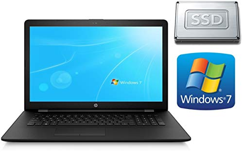 Notebook HP 17-AK - 4GB RAM - 128GB SSD - CD/DVD Brenner - 44 cm (17.3 Zoll) Matt - Windows 7 Pro 64BIT + Office Starter -