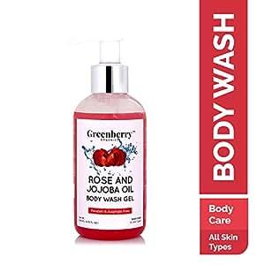 Greenberry Organics Rose and Jojoba Oil Body Wash Gel, 200ml