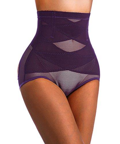 Damen Hintern Lifter Shaper Miederslip Miederpants Boyshorts Unterwäsche Purple(2-3 Days Delivery)