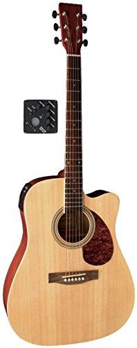 VGS Akustikgitarre D-10 CE Natur Westerngitarre