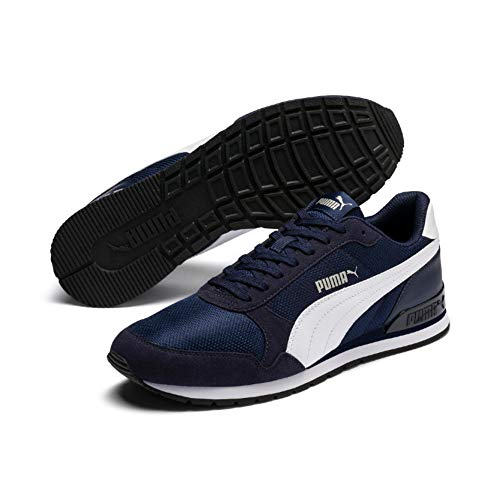 PUMA St Runner V2 Mesh, Sneaker Unisex - Adulto - Blu (Peacoat-Puma White) - 42.5 EU