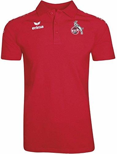 ERIMA Poloshirt 1. FC KÖLN 2017/2018 in weiß/rot, Größe: L, Herren (Polo Sport Köln)