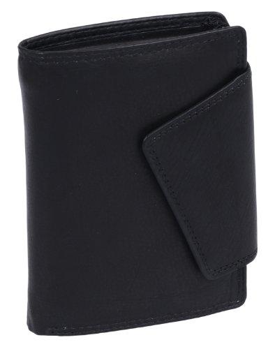 LEAS Damenbörse im Hochformat Echt-Leder, schwarz Ladies-Collection'' - Womans Day Collection