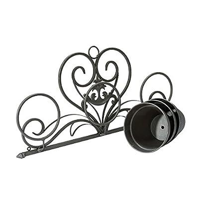 Blumentopfhalter Wandhalter 3 Blumentöpfe Eisen Antik-Braun von PureDay bei Du und dein Garten