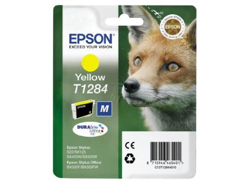 Epson T1284 - Cartouche d'encre d'origine compatible avec Imprimante BX305F Jaune