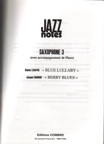 Jazz notes : Blue lullaby & Berry bl...