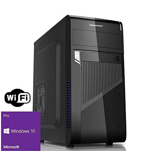 Megaport PC Intel Core i5-7500 7. Generation (Quadcore) 4x 3,40GHz • 8 GB DDR4 2400 • 1000GB Festplatte • ASUS Mainboard • Intel HD Graphics 630 4K• Windows 10 • GigabitLAN • WLAN • DVD Brenner office pc computer desktop pc home multimedia pc