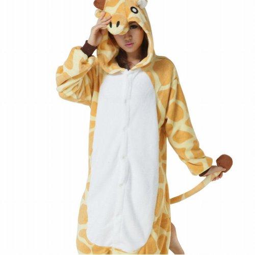 Ferrand-Kigurumi-Pijamas-Unisexo-Adulto-Traje-Disfraz-Animal-Adulto-Animal-Pyjamas-Jirafa