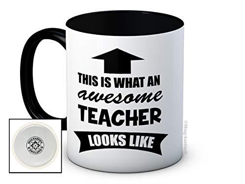 This is What an Awesome Teacher Looks Like - Taza de café de alta calidad