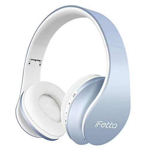 Ifecco Cuffie Bluetooth 4.1 Headphones Wireless Pieghevole - Audio Stereo Hi-fi Microfono Incorporato con Jack Audio da 3.5 mm, Cuffie Stereo Compatibili con IPhone, Samsung, Telefoni e Tablet Android