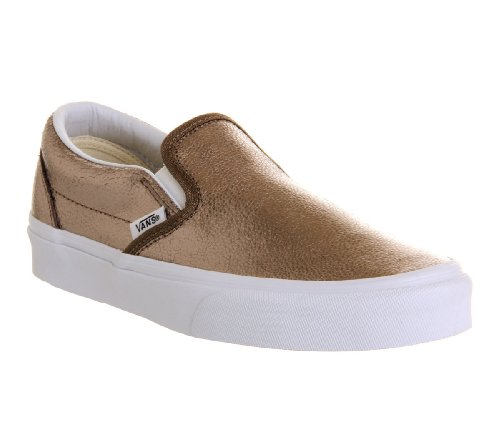 Vans U Classic Slip-on Overwashed, Unisex-Erwachsene Sneakers Metallic Bronze Exclusive