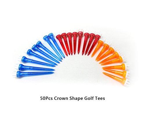 POSMA T020CUK 50 x großartige Golf-Abschläge aus Kunststoff in verschiedenen Farben, kronenförmig -