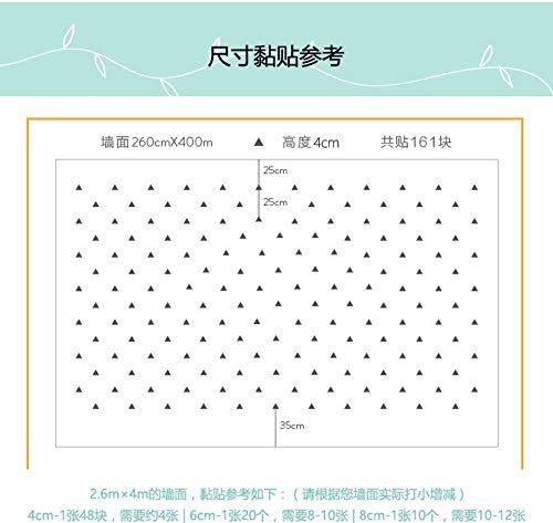youjiu Home Decor Art Wall Decals Kleine Baby-Tapeten geometrische nordische Dreieck-Wandaufkleber