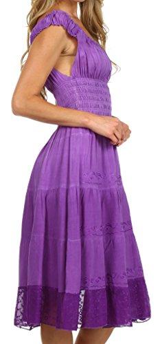 Sakkas Frühling Mädchen Ombre Bauernkleid Lila lila