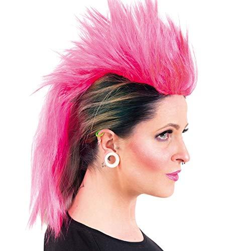 Unbekannt Punker Perücke Irokese Pink