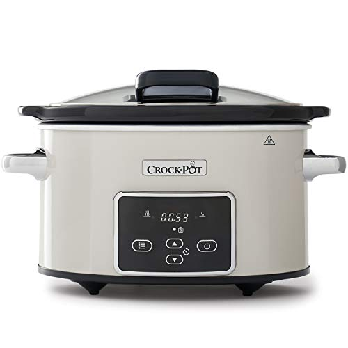 Crockpot Crock-Pot CSC060X Digitaler Lift-&-Serve-Schongarer mit 3,5 L Fassungsvermögen, Pilz & Chrom