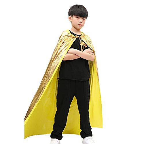 Gold Cape Kostüm - Demarkt Halloween Umhang Karneval Fasching Kostüm