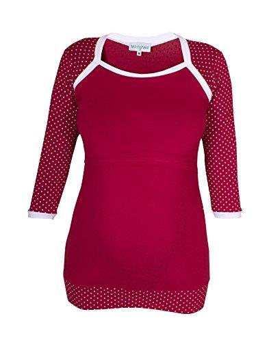 "Milchshake - süßes Umstands- / Stillshirt - 3/4el Arm - ""Winona""- bordeaux - Größe XL"
