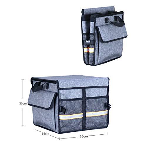 Cassiel Y Boîte De Rangement pour Voiture - Facile À Nettoyer, Pliable, Poignée en Aluminium (Gris),#1