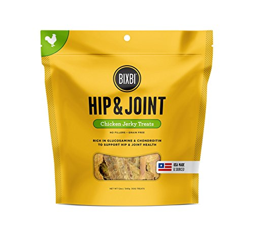 BIXBI USA MADE Hip and Joint Dogs Jerky Treats Chews CHICKEN BREAST Dog...