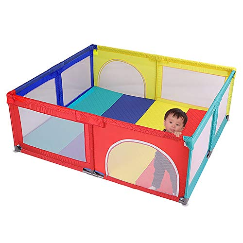 Playpens Baby, Safety Play Yard, Kids Activity Center, Indoor and Outdoor Protective Fence for Toddler/Boy/Girl  MMDP