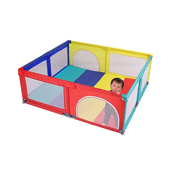 Playpens Baby, Safety Play Yard, Kids Activity Center, Indoor and Outdoor Protective Fence for Toddler/Boy/Girl Playpens  1