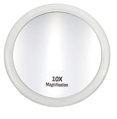 Bad-Schrank Spiegel Kosmetex Zusatzspiegel mit 3 Saugnäpfen und 10-fach Vergrößerung. Ø 10 cm -