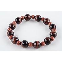 Boviswert Armband,100% Echte Edelsteine, Roter Tigerauge- 10mm und Goldfluss-Perlen 6mm. preisvergleich bei billige-tabletten.eu