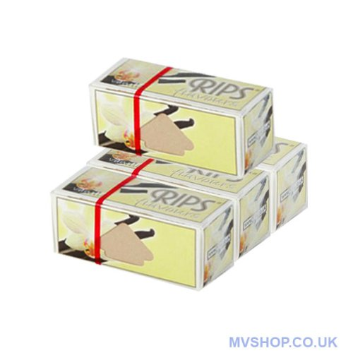 Paquete de papel de liar Rips, sabor vainilla, 4 unidades