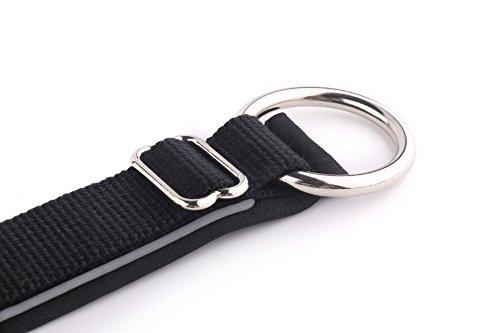KURI PAI Feelgood Halsband, Größe M (43-50cm) schwarz. Gepolstertes Hundehalsband. Reflektierend. Gepolstert mit Neopren. Obermaterial aus Bambusfaser - 5